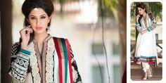 $137.08 White Full Sleeve Faux Georgette Long Anarkali Salwar Kameez 21715