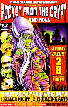 Rocket From The Crypt Poster w/ Charger Street Gang 2001 Concert