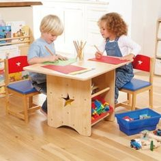 Aston red kids table and chairs with toy storage adult sized with ...