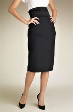 High waist pencil skirt choose your size from 2 to by Gorgones