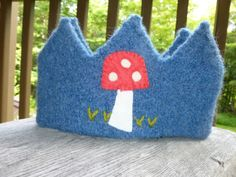 Felted Wool Crown dress up pretend play by greenmountain on Etsy, $15.00