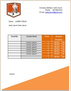Carpet Cleaning Invoice Template 11 Business Professional Templates Best