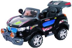 Remote Control 631R Thunder Jeep with Moving Engine 6V (Black)