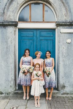 Floral bridesmaids dresses | Miss Gen Photography | Bridal Musings Wedding Blog