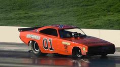 Funny car painted like General Lee Funny Car Drag Racing, Nhra Drag Racing, Funny Cars, General Lee, Drag Bike, Drag Cars, Car Painting, Vintage Humor, Car Humor