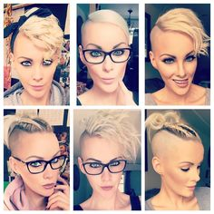 mentions J'aime, 251 commentaires – Heather Austrie ( … - Modern Undercut Hairstyles, Pixie Hairstyles, Cool Hairstyles, Half Shaved Hairstyles, Short Hair Cuts, Short Hair Styles, Corte Y Color, Great Hair, Hair Today