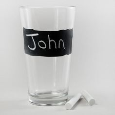 One of my favorite discoveries at WorldMarket.com: Chalk Talk Pint Glass, Set of 4