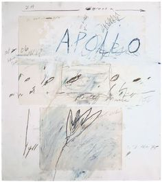 cy twombly -- apollo and the artist -- 1975 -- oil paint, wax crayon, pencil and collage Cy Twombly Art, Cy Twombly Paintings, Robert Rauschenberg, Les Miserables, Abstract Expressionism, Abstract Art, Modern Art, Contemporary Art, Wax Crayons