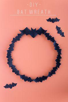 TELL:  DIY HALLOWEEN BAT WREATH