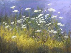 """Queen Anne's Lace#4 by Kathy McDonnell Pastel ~  12"""" x 16""""♥🌸♥"""