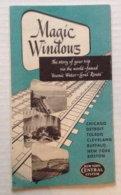 New York Central Railroad Train Brochure Magic Windows 1952 Booklet