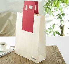 white craft paper bag, special paper bag, design shopping bag