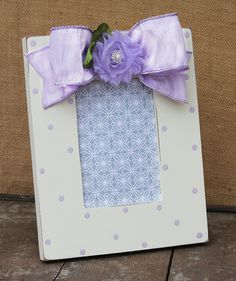 lavender simple dot flower photo frame for a 4x6 by AveQcollection
