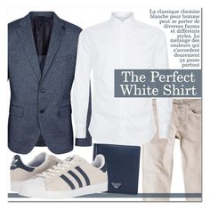 """The Perfect White Shirt"" by drinouchou ❤ liked on Polyvore featuring MANGO MAN, BOSS Black, Brunello Cucinelli, Emporio Armani, adidas, men's fashion and menswear"