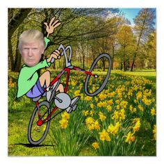 MAKE AMERICA GREAT AGAIN-BIKE POSTER - flowers floral flower design unique style