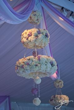 Purple and White Floral Chandeliers! Floral & Decor: Bold American Events