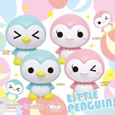 Ibloom Little Penguins super squishies ~ scented like bubblegum 25.50$