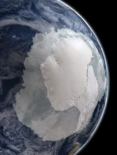 Antarctica from space, by NASA Nite, nite south | HoHo Pics