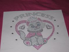 Diy Valentine Kitty in Beautiful Crystal Rhinestones by cthorses66, $7.00