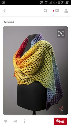 This is not a crochet pattern - Free Pattern: Bubblemania by sign in Ravelry Crochet Shawls And Wraps, Knitted Shawls, Crochet Scarves, Crochet Clothes, Knit Or Crochet, Crochet Crafts, Crochet Stitches, Free Crochet, Free Knitting