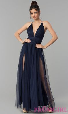 Shop long prom dresses and formal gowns for prom 2020 at PromGirl. Prom ball gowns, long evening dresses, mermaid prom dresses, long dresses for prom, and 2020 prom dresses. Prom Dresses Under 200, Navy Prom Dresses, Open Back Prom Dresses, Prom Outfits, Tulle Prom Dress, Ball Dresses, Pretty Dresses, Formal Dresses, Formal Prom