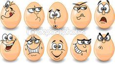 dibujos animados de huevos de Pascua, Pascua feliz — Ilustración de stock #18768961