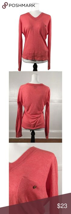 "Wallace Sz M Madewell Coral Pink Long Sleeve Top 🔸Wallace Sz M Madewell Coral Pink Long Sleeve Top EUC🔸Size Medium🔸Wallace by Madewell🔸Light coral pink color🔸Long sleeve🔸Bust 34-36""-slight stretch🔸Front pocket with button🔸V Neck🔸Soft lightweight material🔸Pullover🔸EUC pre owned has been worn and washed. Madewell Tops Blouses"