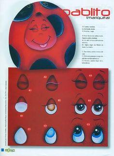 Como dibujar ojos a las manualidades