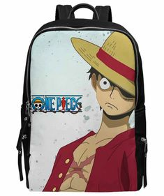 db6fb01d62 Luffy Kenbunshoku Haki Backpack One Piece After Timeskip Manga School Bag  Black. Backpacks ...