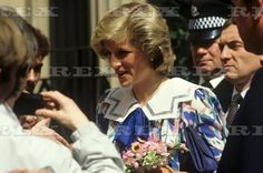 May 8, 1984 Princess Diana at the Royal College of Physicians, Glasgow, Scotland, Britain