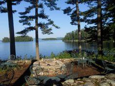 Waterfront at Migis Lodge on Sebago Lake, Maine