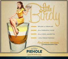 Slice off a shot with this delicious Piehole Whiskey Little Birdy recipe.