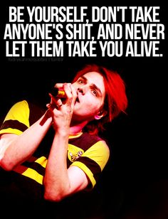 Rock on Gerard Way- ROCK THE FUCK ON!!!!