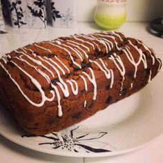 Homemade chocolate chip pumpkin bread