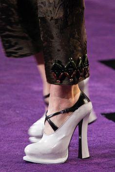 Detail from Prada fall 2012 runway show. Image from Style.com. #fall fashion #prada #runway