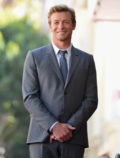Who says that young men are the hottest? Hollywood Walk Of Fame, Hollywood Stars, Simon Baker, Patrick Jane, The Mentalist, Jason Statham, I Love Simon, Kimball Cho, Robin Tunney