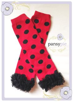 Black And Red Leggings Minnie Mouse Leggings by PansyPieBoutique Myška  Minnie e159dd0b03