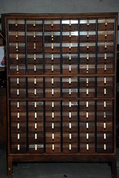 vintage card catalog #storage