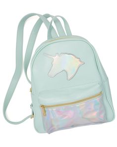 Your little girl will be the coolest kid in school toting around her school supplies in this holographic unicorn backpack! Shop Charming Charlie now! School Tote, Trendy Collection, Handbag Accessories, Cool Kids, Fashion Brand, Fashion Backpack, Little Girls, Unicorn, Cool Outfits