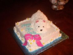 Westie Dog Birthday Cake By buckygirl on CakeCentral.com