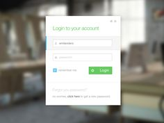Metro_style_login - Web interface UI UX
