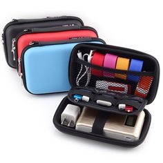 Mini Portable Digital Accessories Travel Storage Bag for Earphone, HDD, U Disk, SD Card, Data Cable, Phone, Power Bank Organizer