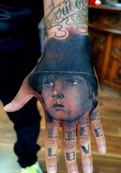 Ultra realistic hand tattoo #realism #tattoos #blackwork #inked