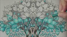 How I color a magic tree Tutorial 2 Prismacolor enchanted forest by Joha...