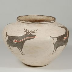 "#adobegallery @adobegallery #ZuniPuebloPottery #SouthwestIndianPottery - #ZuniPueblo Small Jar in Drum Jar Design - Category: #Historic Origin: Zuni Pueblo Medium: clay, pigment Size: 6-3/8"" tall x 9"" diameter Item # 25727"
