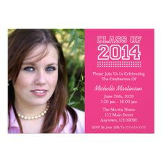 Traditional Class Of 2014 Graduation Blue Custom Invites 2017