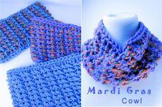 New Free Pattern: Mardi Gras Cowl | WIPs 'N Chains