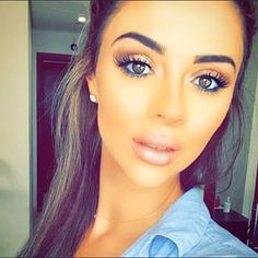 thin or no eyeliner can really emphasise the lashes - cute semi-natural makeup look