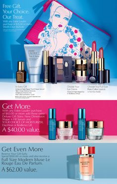 Estee Lauder GWP: for every $25 purchase choose a duo at ...