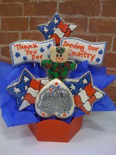 Veterans Bouquet #cookiesbydesignokc